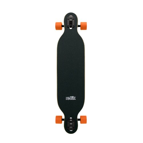 Rellik Orange Leaves Longboard DropThrough 38 x 8.5