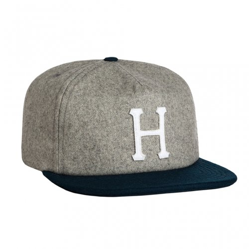 HUF Wool Classic H Strapback Ash/Navy