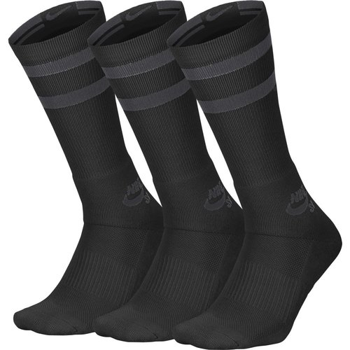 Nike SB Crew Skateboarding Socks (3er Pack) Black Anthracite