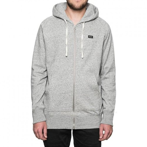 HUF Cadet Zip Up Hoodie Grey Heather