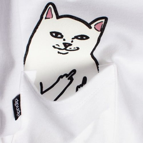 Ripndip Lord Nermal Pocket T-Shirt White