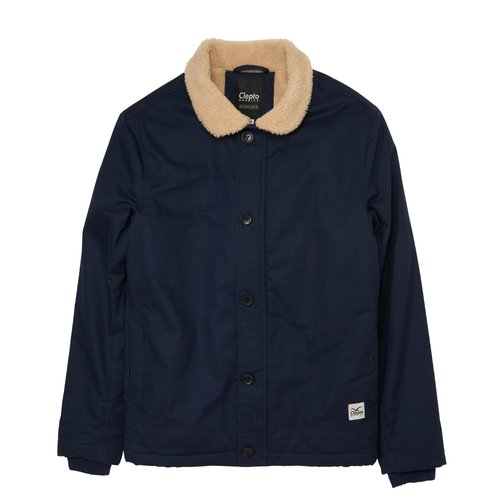 Cleptomanicx Deckhand Winter Jacke Dark Navy