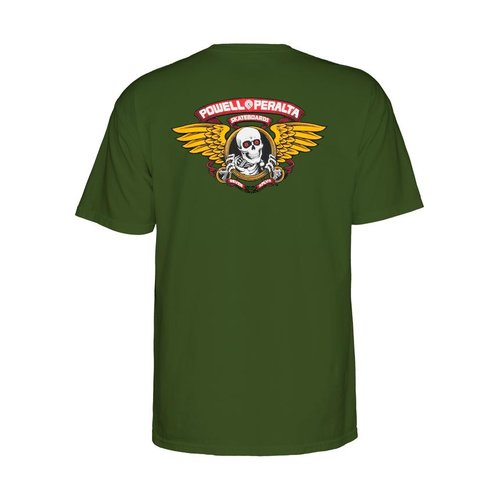 Powell Peralta Winged T-Shirt Military Green