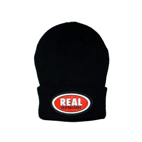 Real Logo Patch Beanie Black