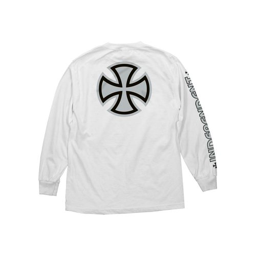 Independent Metallic Bar Cross Longsleeve White/Silver
