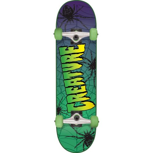 Creature Web 7.5 Complete Skateboard Green