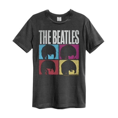 Amplified The Beatles Hard Days Night T-Shirt Charcoal