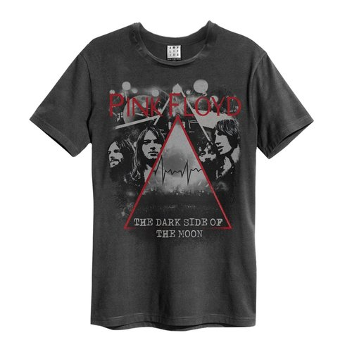 Amplified Pink Floyd Pyramid Faces T-Shirt Charcoal
