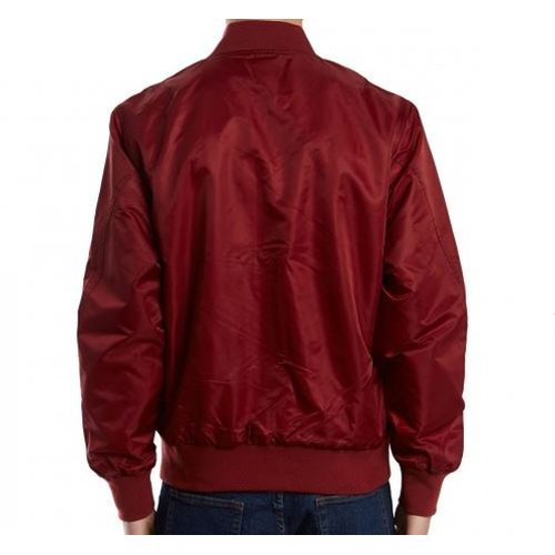 HUF Shots Bomber Jacket Burgundy