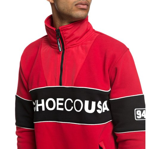 DC Clewiston Zip Crewneck Tango Red