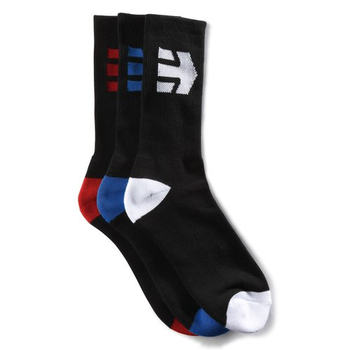 Etnies Direct Crew Socks 3er Pack Black
