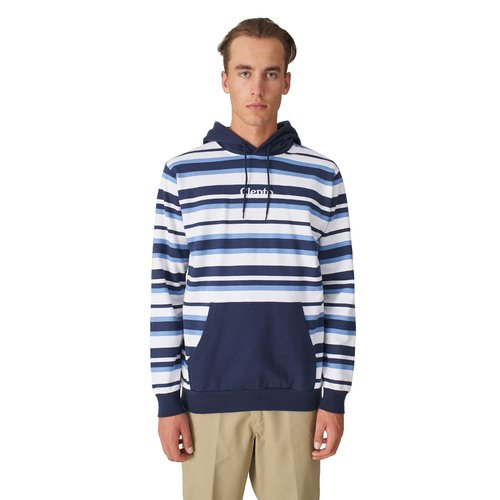 Cleptomanicx Multi Stripe 3 Hoodie Dark Navy