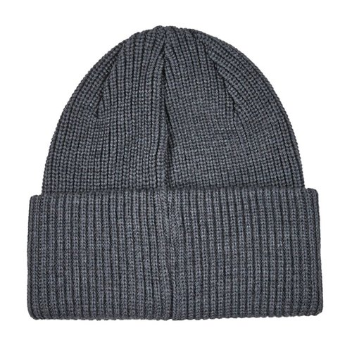 Polar Double Fold Merino Wool Beanie Heather Grey