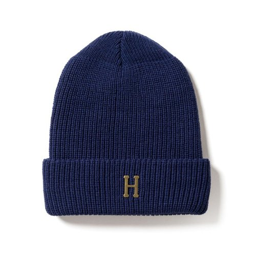 Huf Brass H Military Beanie Navy