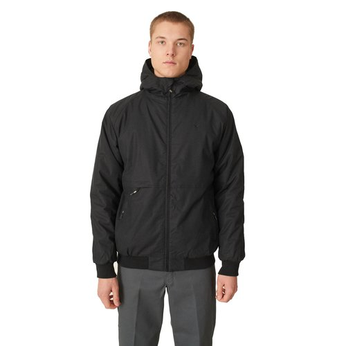 Cleptomanicx Polarzipper Hem Winter Jacket Black