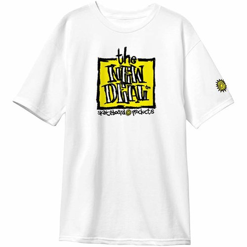 New Deal Original Napkin Logo T-Shirt White