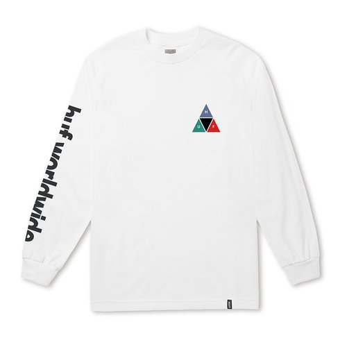 HUF Prism Triple Triangle Longsleeve White