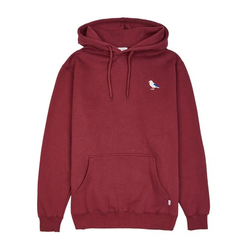 Cleptomanicx Embro Gull 2 Hoodie Windsor Wine M