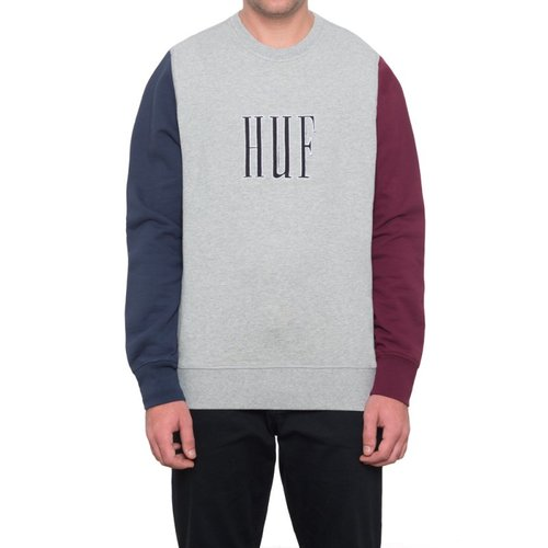 HUF Crevasse Crewneck Grey Heather