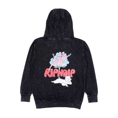 Ripndip Cherry Blossom Hoodie Grey Mineral Wash