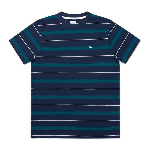 Wemoto Arthur Stripe Navy Blue-Dark Green
