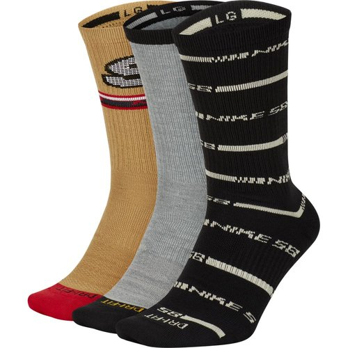 Nike SB Lightweight Crew Skateboarding Socks (3er Pack) Multi II