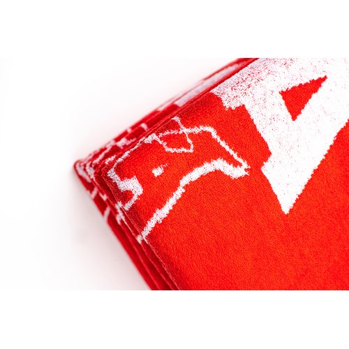 Montana Cans Beach Towel Red