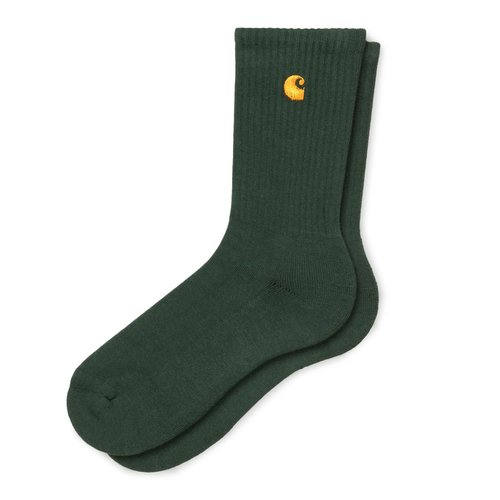 Carhartt Wip Chase Socks Bottle Green/Gold