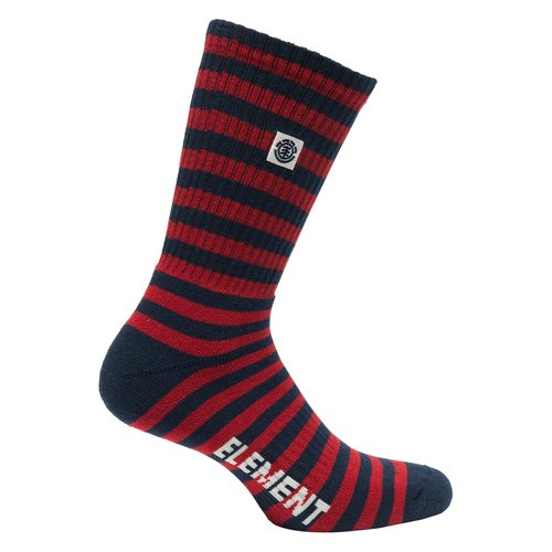 Element Resplend Socks Red Stripe