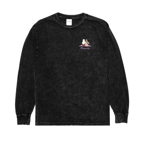 Ripndip Suns Out Buns Out Longsleeve Black Mineral Wash