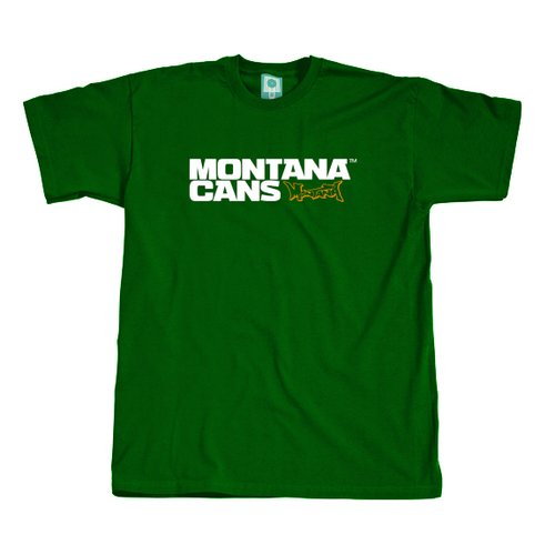 Montana Cans Typo+Logo T-Shirt Green
