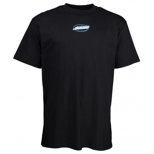 Santa Cruz Cosmic Cat Strip T-Shirt Black