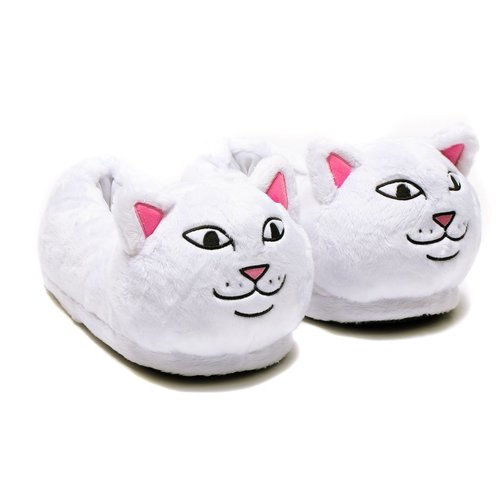 Ripndip Lord Nermal Fuzzy Slippers White