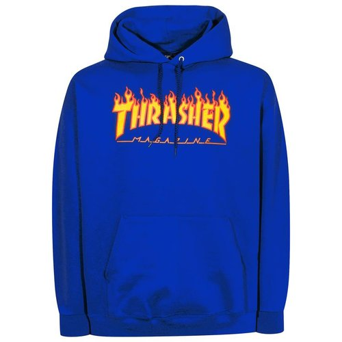 Thrasher Flame Hoodie Royale Blue