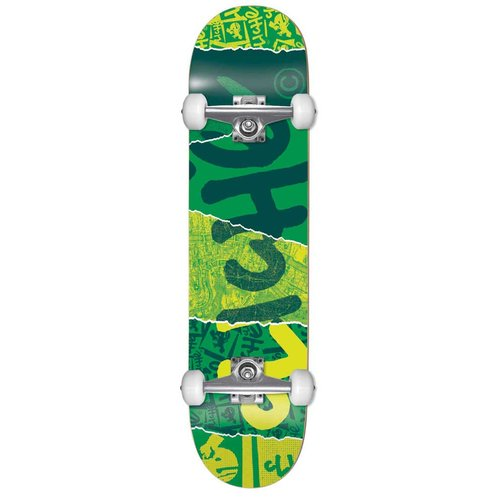 Cliche Ripped Kids Complete Skateboard 7.0 Green