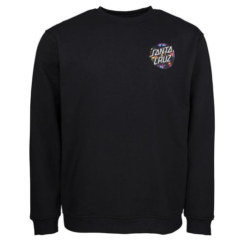 Santa Cruz Dot Splatter Crewneck Black