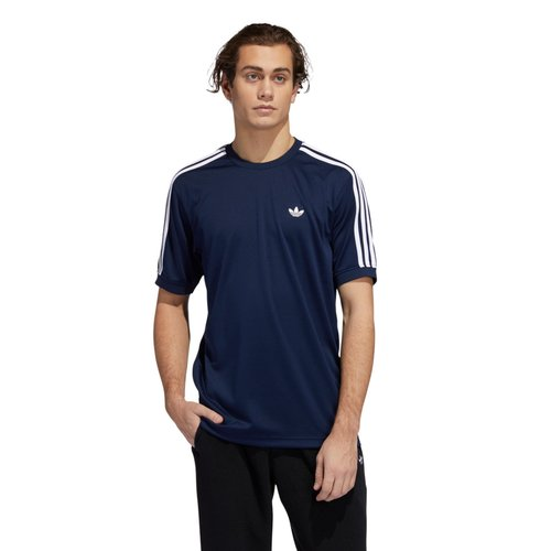 Adidas Aero Club Jersey T-Shirt Navy/White