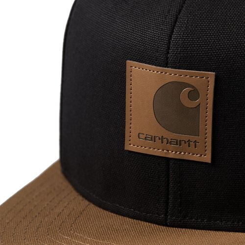 Carhartt Wip Logo Cap Bi-Colored  Black / Hamilton Brown