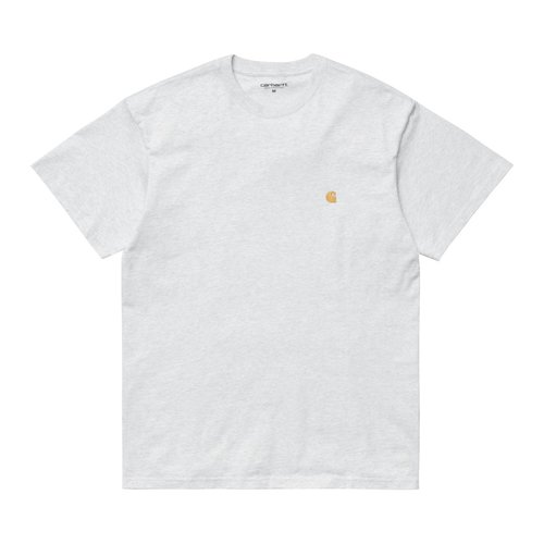 Carhartt Wip Chase T-Shirt Grey Ash Heather/Gold